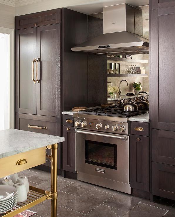 Kitchen Cabinets Refrigerator: Gorgeous Kitchen Features A Stainless Steel Kitchen Hood