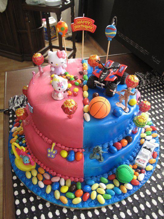 boy girl twin cake concept birthday pinterest birthdays on cake birthday boy girl