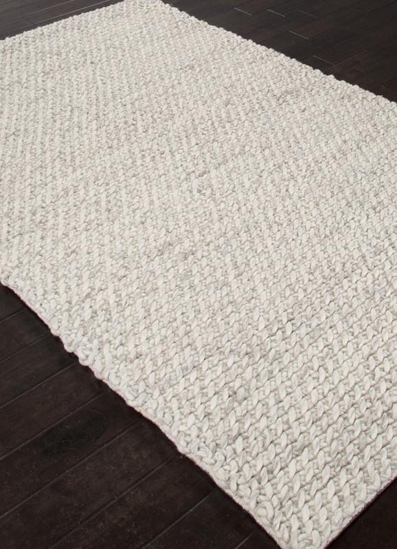Jaipur Rugs Rug113054 Textured Ultra Plush Wool Ivory Gray Area