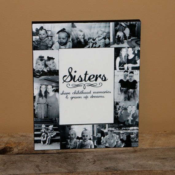 Personalized Sisters Gift Bridesmaid Picture Frame Custom Collage ...