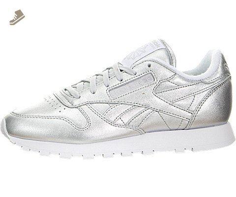 14fdd539dfed6 Reebok X face Stockholm Women s Classic Leather Spirit Silver Presence White  V62700 (SIZE  8.5) - Reebok sneakers for women ( Amazon Partner-Link)