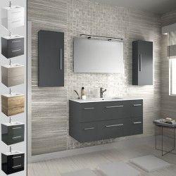 Mueble de ba o fussion chrome salgar suspendido 110 cm con lavabo ideas para el hogar - Salgar muebles de bano ...