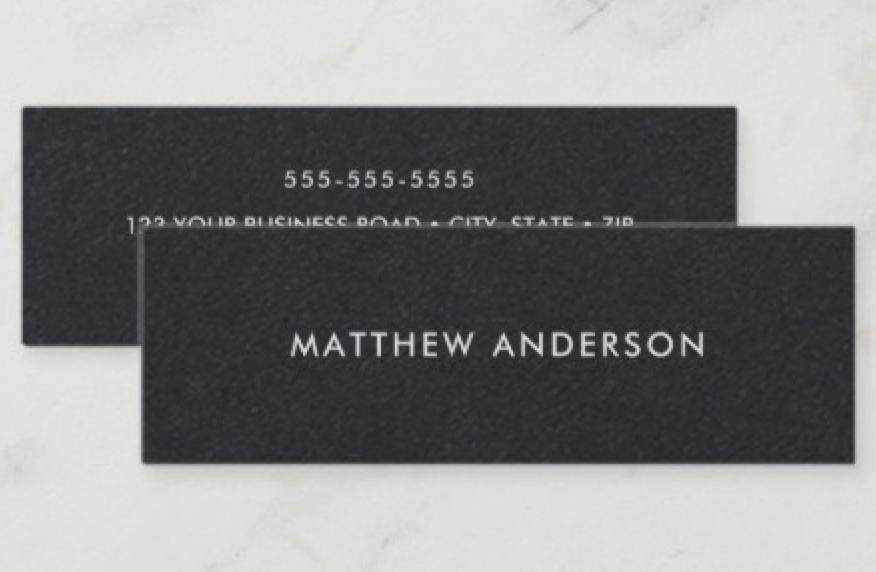 Black Skinny Business Cards Zazzle Com Black Business Card Mini Business Card Printing Double Sided