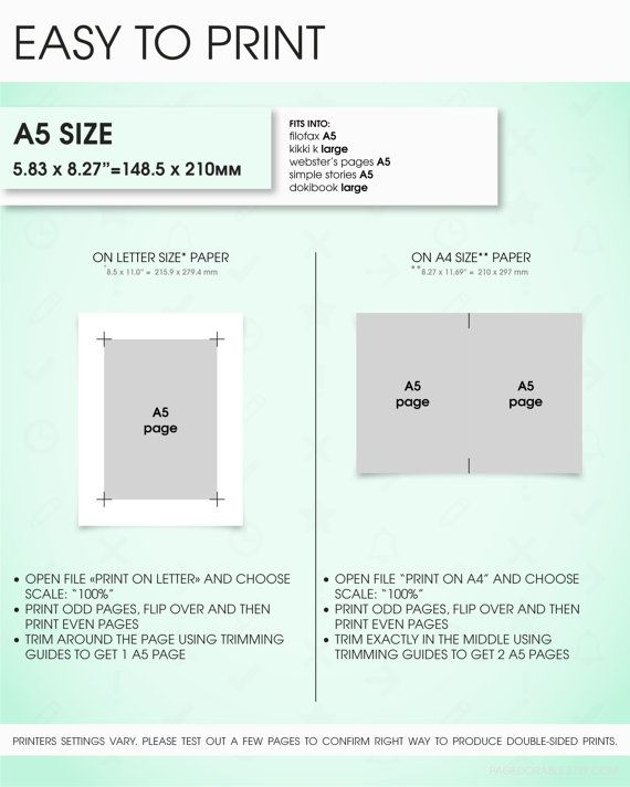 DIY how to print planner inserts filofax a5 size by #pagedorable - lined paper template for word