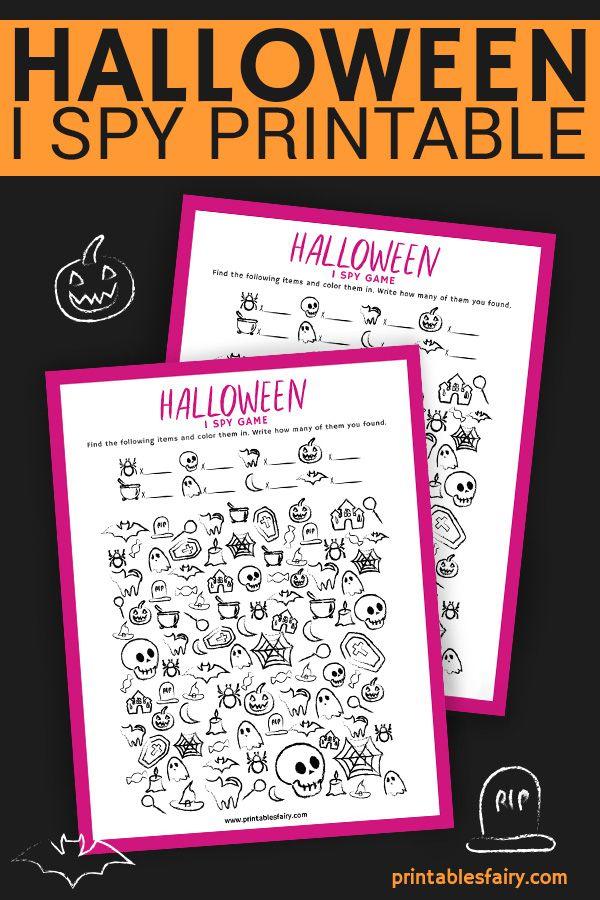 Halloween I Spy (Free Printable) - The Printables Fairy ...