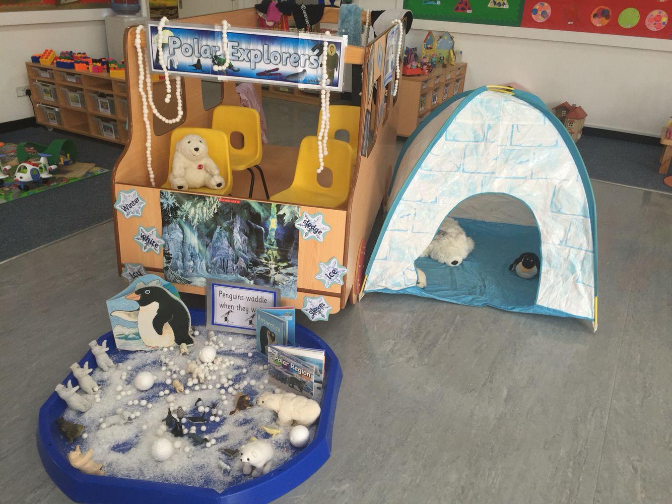 Winter Role Play Area Polar Explorer