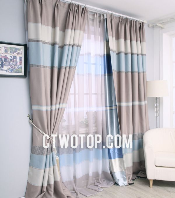 Blue Curtains Living Room   Google Search