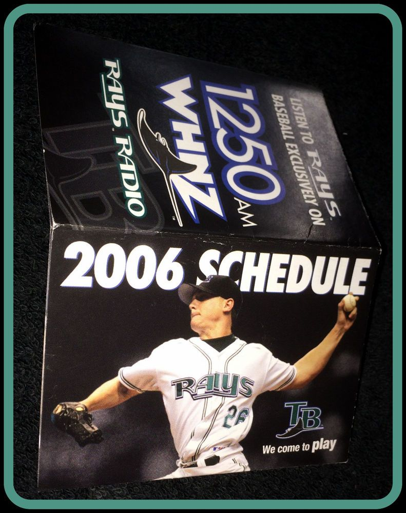 2006 TAMPA BAY RAYS WHNZ RADIO BASEBALL POCKET SCHEDULE