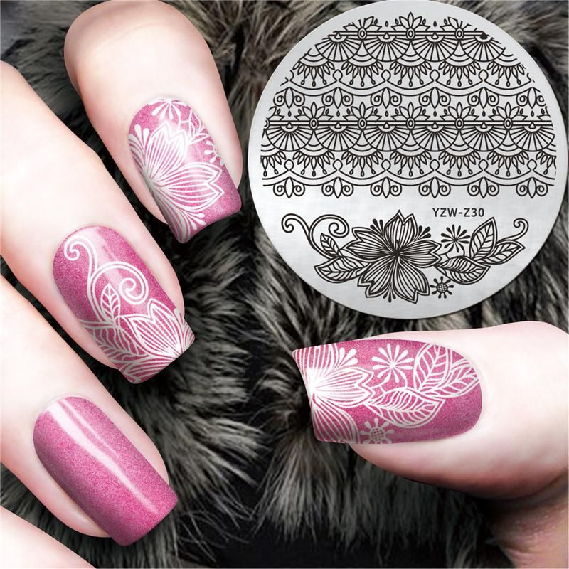 [Visit to Buy] YZWLE Lace Design Chinese Classic Pattern Nail Art Stamping Stamp Template for Flower Image Plates Nail Stamp Plate #YZW-Z30 #Advertisement