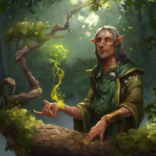 The Druid spends their life binding with the spirits of nature. They commune with these spirits to forge personal relationships of mutual respect. Druids gain a 10 point bonus to Cool