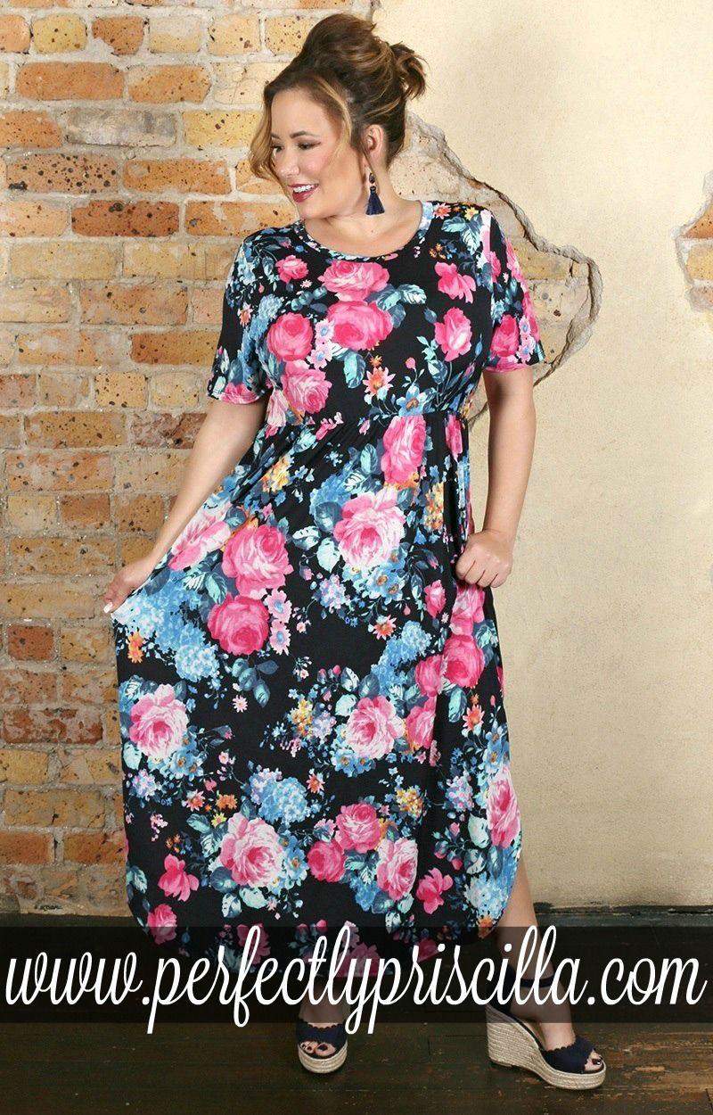 94b7ee6a0 Navy Floral Maxi Dress Plus Size - raveitsafe