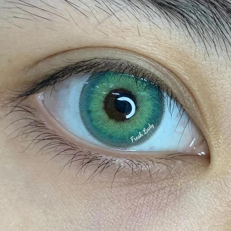 Freshlady Himalaya Green Colored Contact Lenses Cosmetic Free Shipping Contact Lenses Colored Green Colored Contacts Colored Contacts
