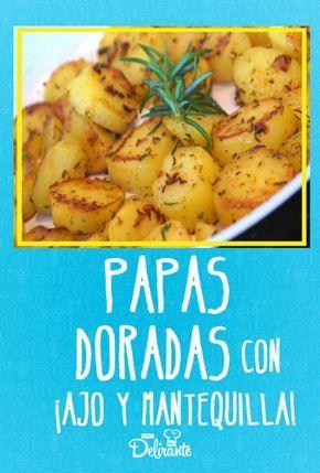 Papas doradas con ajo y mantequilla, ¡listas en 20 minutos!