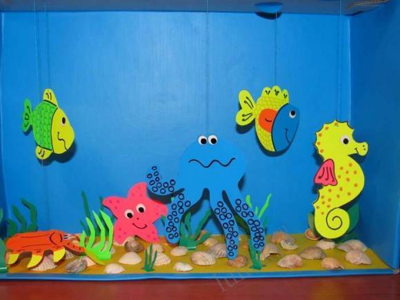 box Aquarium craft | Crafts and Worksheets for Preschool ...