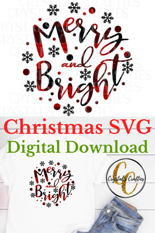 Merry and Bright SVG Christmas svg, Christmas prints