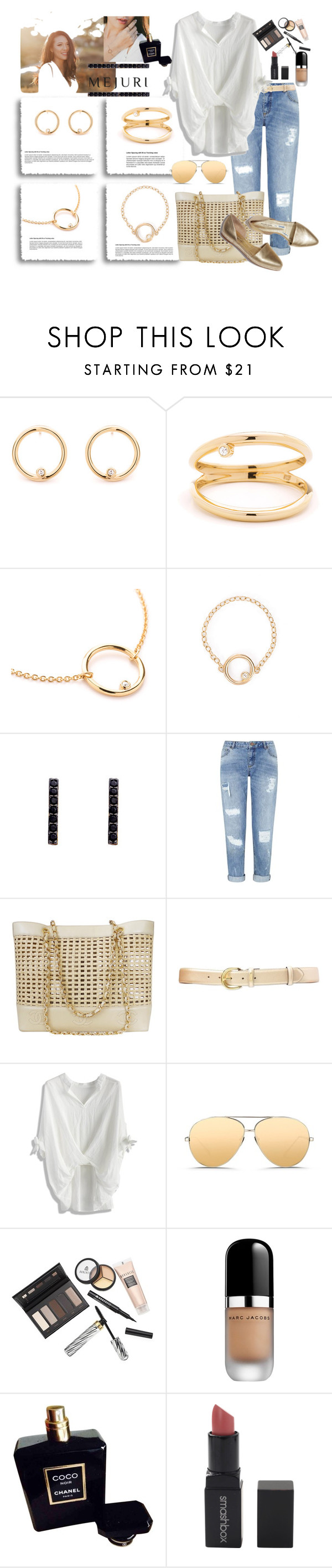 """jenchaexmejuri"" by marionmeyer ❤ liked on Polyvore featuring Miss Selfridge, Chanel, Lauren Ralph Lauren, Chicwish, Linda Farrow, Borghese, Marc Jacobs, Smashbox, contestentry and jenchaexmejuri"