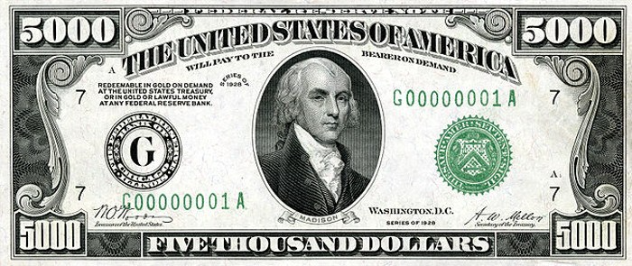 5000 Dollar Bill Learn About This Bill And Its Value Thousand Dollar Bill 5000 Dollar Bill Dollar