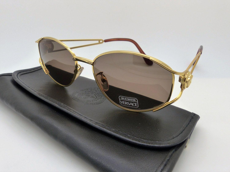 Genuine Rare Vintage Gianni Versace Sungles Mod G 99 S Col 030 New Old Stock
