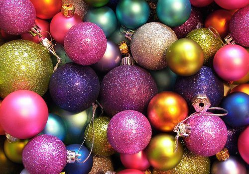 Colorful Christmas Balls.Colorful Sparkly Ornaments Random Things I Love
