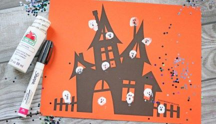 Thumbprint Ghost - Kid Craft Idea w/free printable
