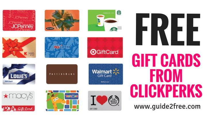 Clickperks earn free gift cards free gift cards earn