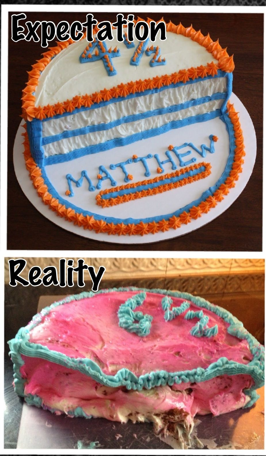 Birthday cake fail