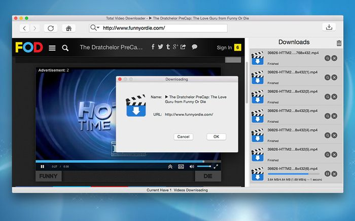 Total Video Downloader For Mac Video Love Guru Video Player