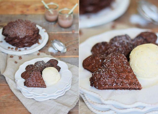Brownie Waffeln