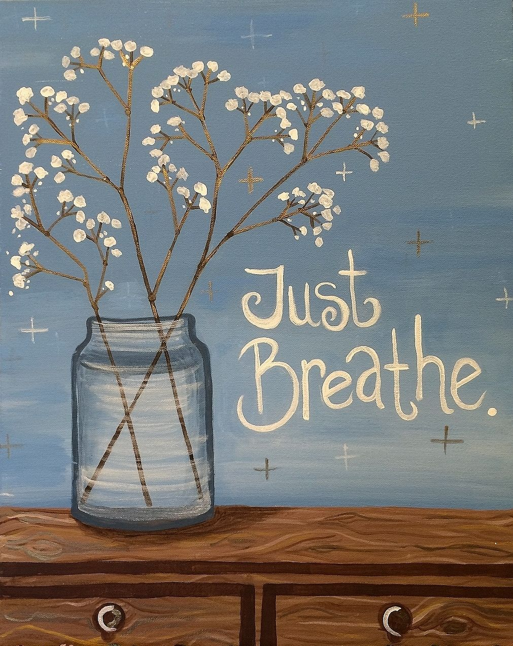 Come To Pinot S Palette For A Relaxing Evening And Paint Just Breathe With Us Spring Paintandsip Pinotspalett Art Painting Easy Canvas Painting Canvas Art