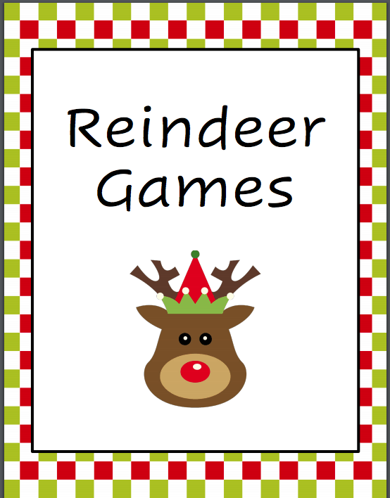Holiday Family Game Night Reindeer Games Free Printable Download Family Game Night Play Christmas Music Family Games