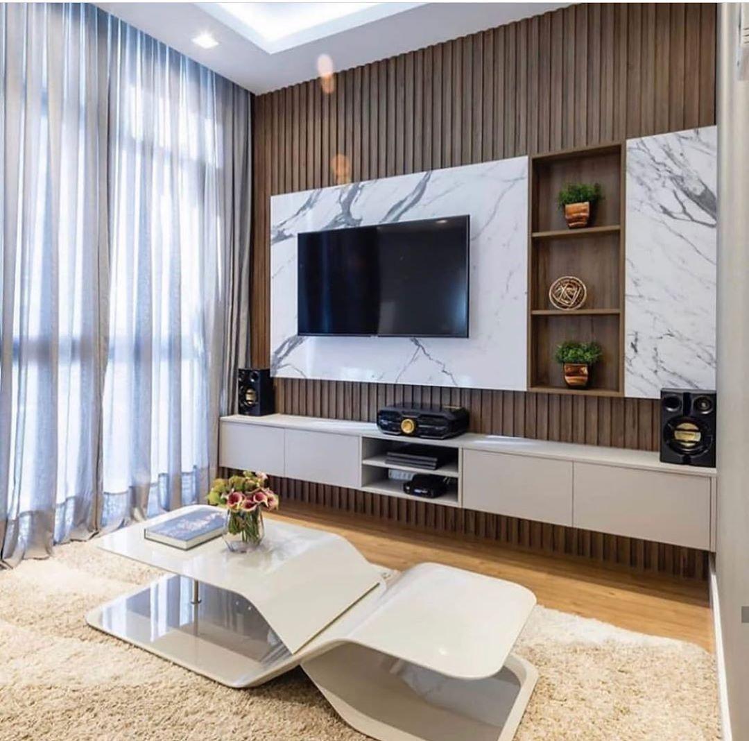 Tv Unit Design With Wallpaper Tv Unit Wallpaper Living Room Tv Unit Designs Living Room Sofa Design Furniture Design Living Room