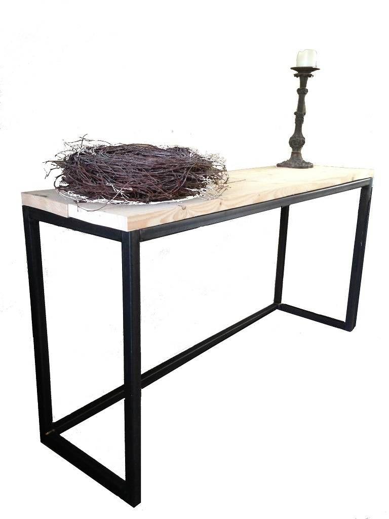 Side Table Blank Hout.Consi Tafel Op Maat Hout En Staal