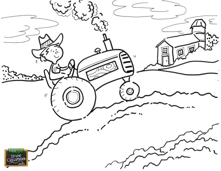 Just another day on the farm! Free coloring page for your ...