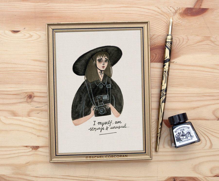 Lydia Deetz (Beetlejuice) Print - Original Illustration, Halloween - tim burton halloween decorations