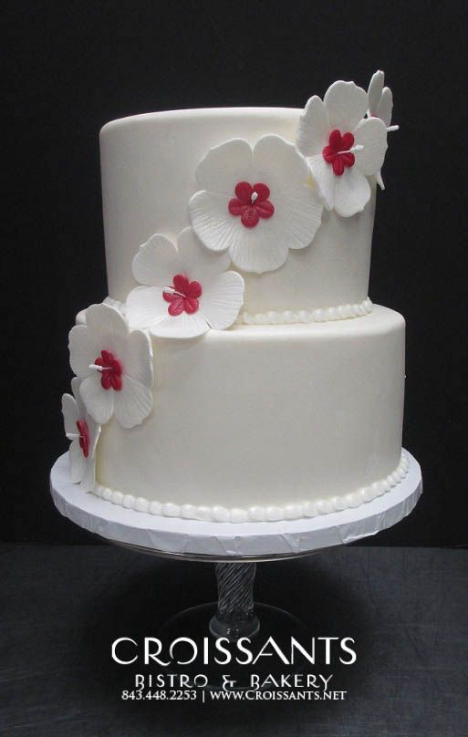 Hibiscus Beach Wedding Cake