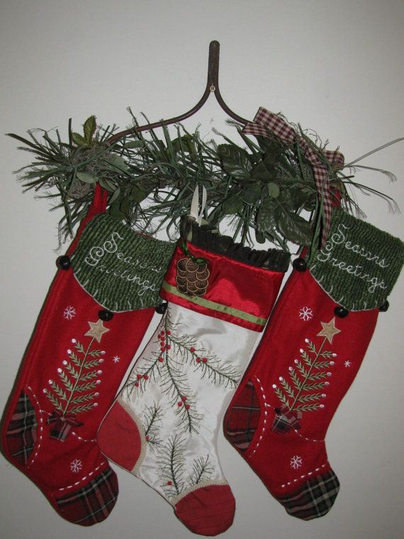 14 creative ideas for diy christmas stocking hangers - Decorative Christmas Stocking Holders