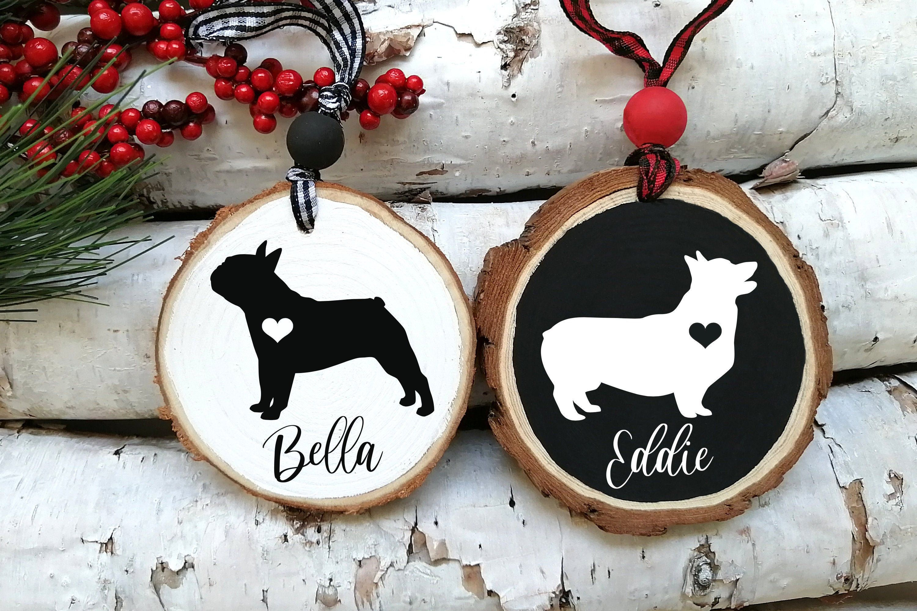 Pet Ornament Pet Gift Dog Ornament Wood Ornament Etsy Personalized Dog Ornament Wood Ornaments Rustic Ornaments