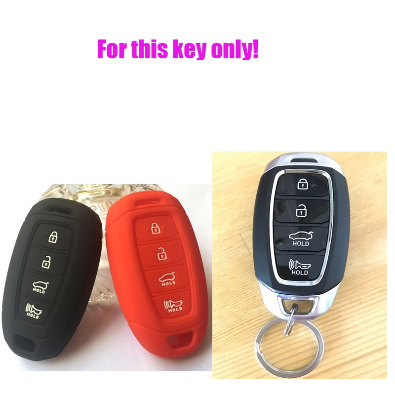 Silicone 4 Button Smart Key Keyless Entry Fob Cover Remote Case For Hyundai Kona Azera Elantra Veloster Santa Fe Limited Sku Hyus4e Hyundai Elantra Key