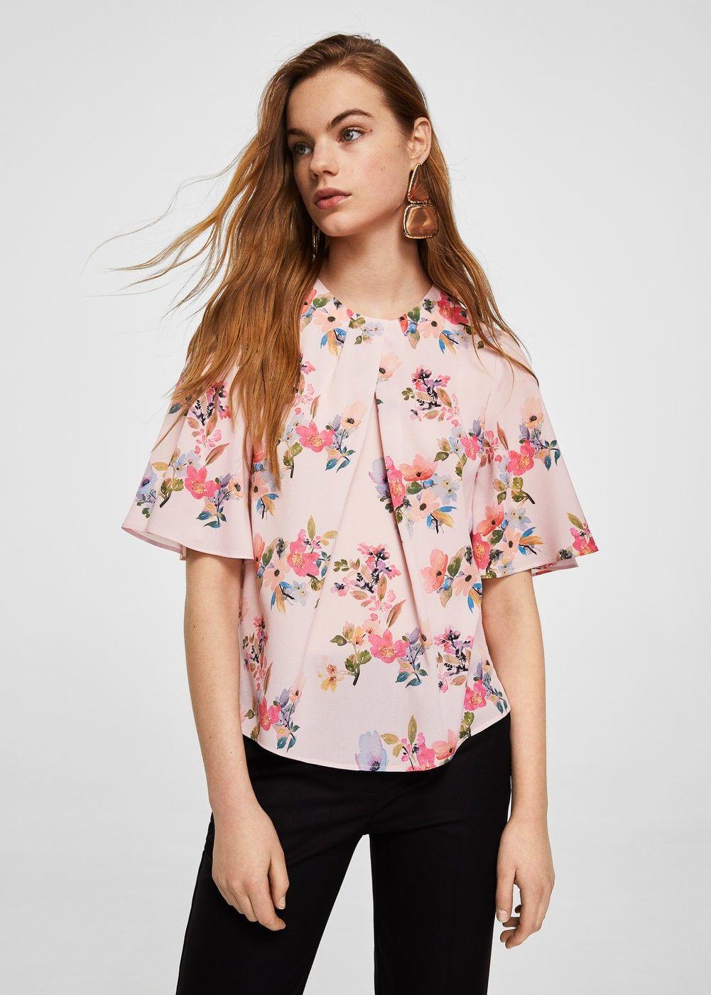 b43285042 Blusa gasa estampada - Camisas de Mujer | blusas | Gasa estampada ...