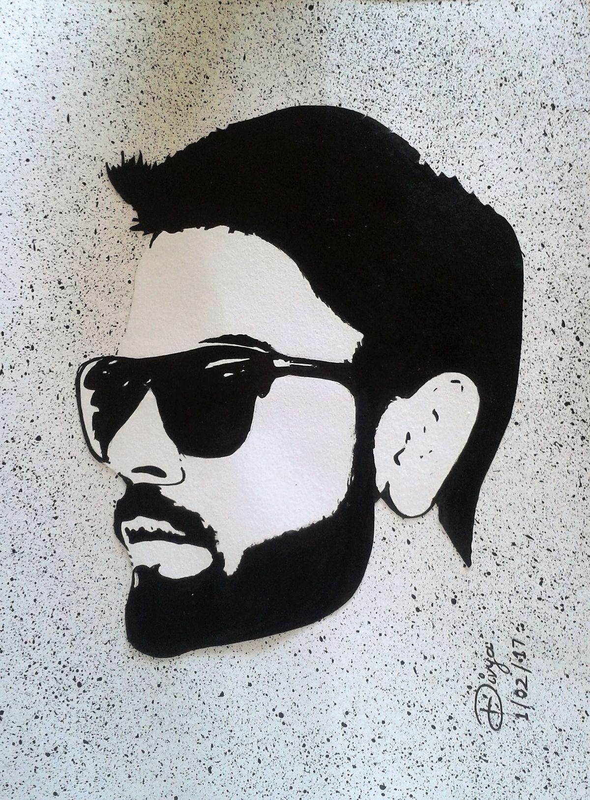 Virat Kohli Stencil Art Virat Kohli Sketch Cricket