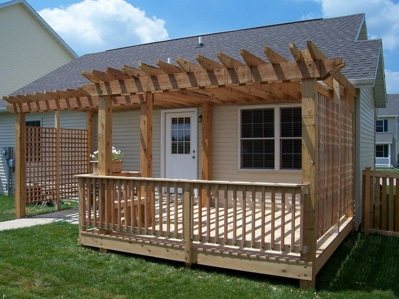 Pergola Over Deck Ideas - Best Home Design Ideas ... on Deck Over Patio Ideas id=81365