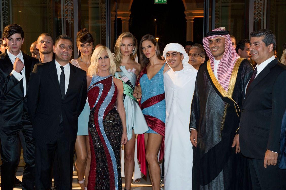 Donatella Versace, Alessandra Ambrosio, and more at Palazzo Versace's Dubai opening.