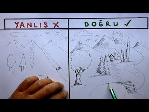Resim Cizerken Sikca Yapilan Hatalar Nelerdir Manzara Cizimi Yanlislari Picture Drawing Mistakes Youtube Drawing Resim Cizim