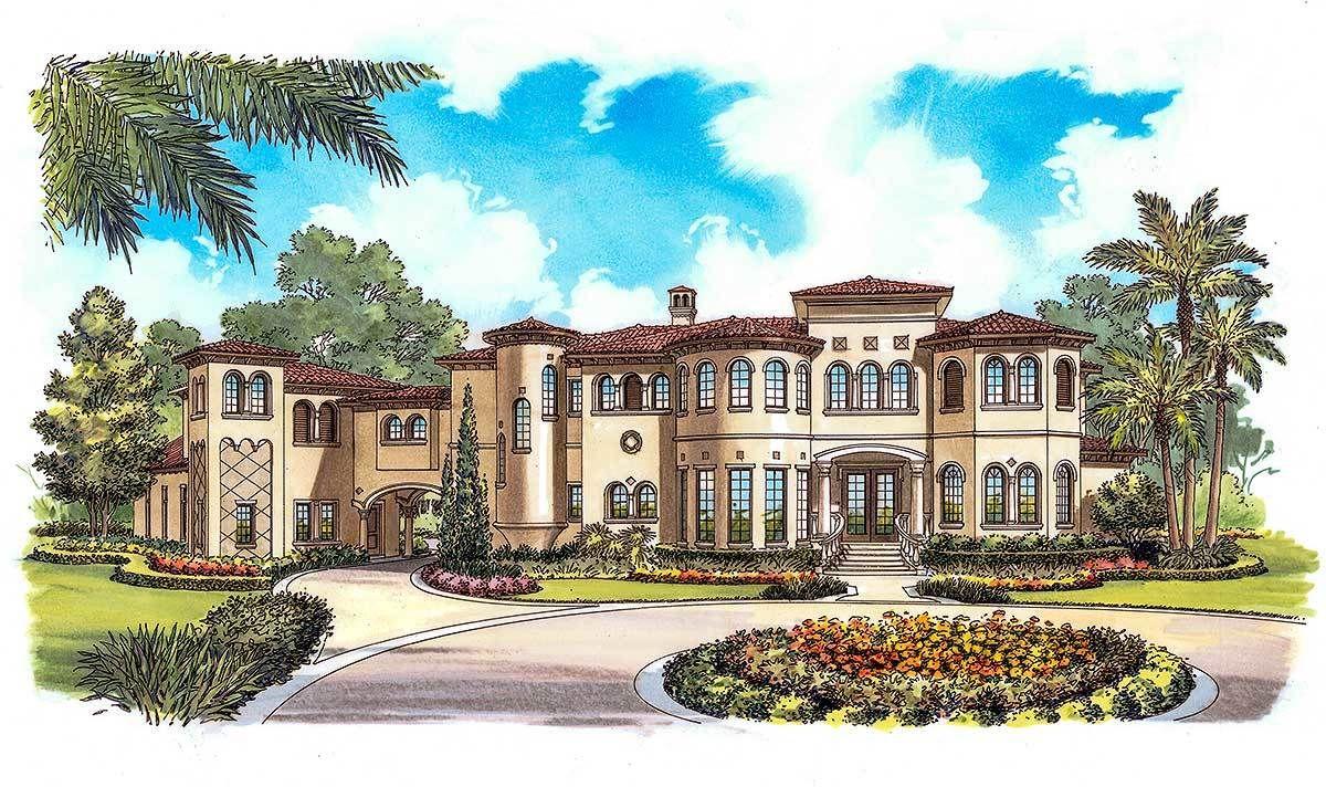 Opulent Mediterranean Home Plan - 63254HD | Architectural Designs - House Plans