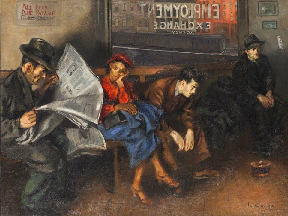 Issac Soyer Employment Agency 1937 Whitney Art History