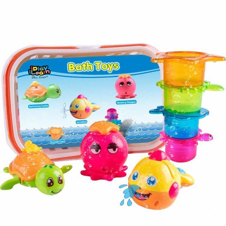 This set of baby bath toys is a great gift for parents who ...