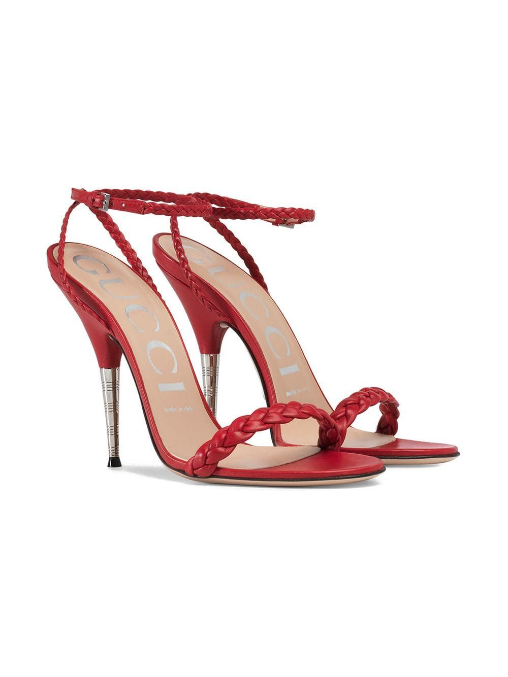 0ffd7577d Gucci Braided Leather Sandal in 2019 | My Shoes<3 | Sandals, Leather ...
