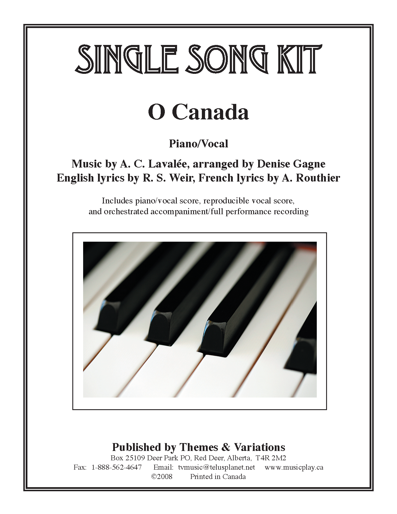 O Canada Single Song Kit Download | Songs, Choir songs, Piano