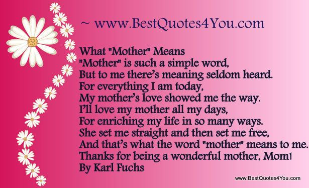 I Love You Mom Quotes | Am Today, My Motheru0027s Love Showed Me The Way