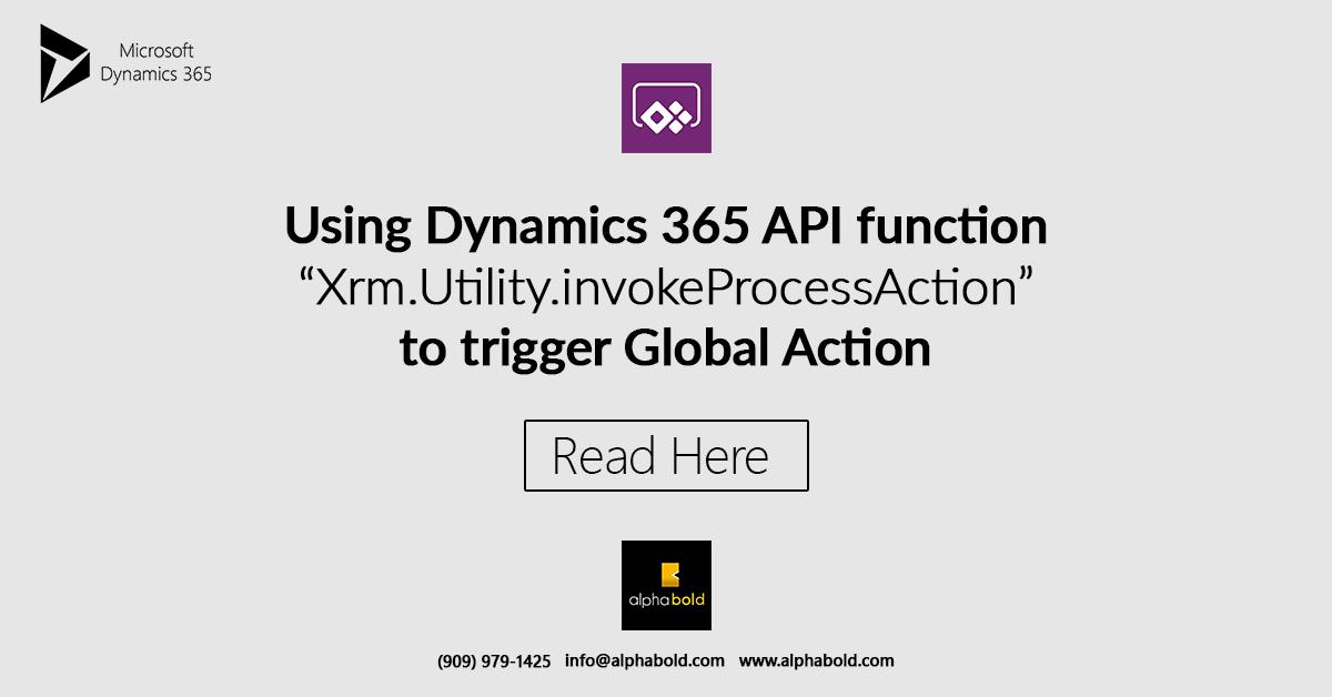 "Blog: Using Dynamics 365 API function ""Xrm Utility"